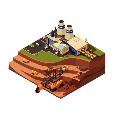 Desenho de mineradora